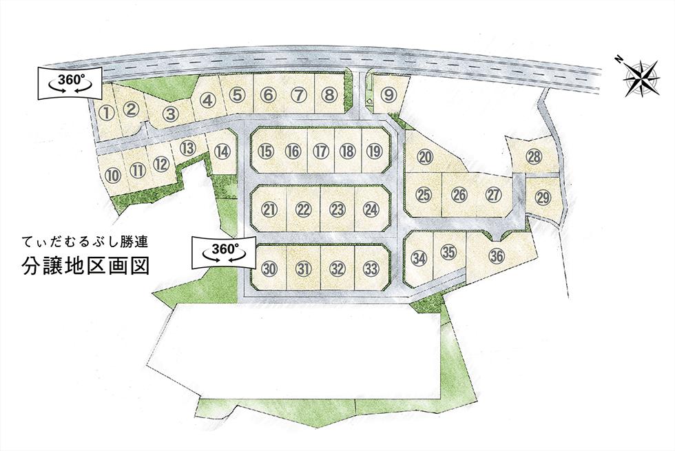宅地分譲地区画図